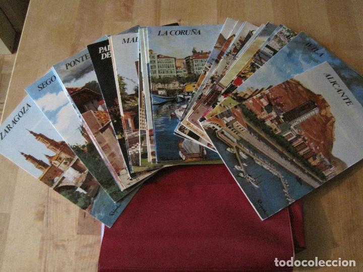 ESTUCHE GUIA TURISTICAS ESPAÑA AÑOS 70 PROVINICIAS PARADORES NACIONALES (Coleccionismo - Folletos de Turismo)
