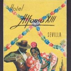 Folletos de turismo: FOLLETO TURISMO HOTEL ALFONSO XIII SEVILLA. Lote 222563410