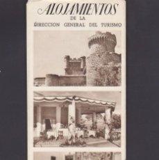 Folletos de turismo: FOLLETO TURISMO ALOJAMIENTOS DE LA DIRECCION GENERAL DE TURISMO. Lote 222563563