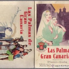 Folletos de turismo: PLANO-GUIA LAS PALMAS DE GRAN CANARIA. JUNTA PROVINCIAL DE TURISMO. AÑOS 50. Lote 222564085