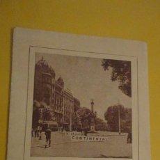 Brochures de tourisme: ANTIGUO FOLLETO.GUIA TURISMO.BARCELONA.HOTEL CONTINENTAL.PLANO.. Lote 225907283