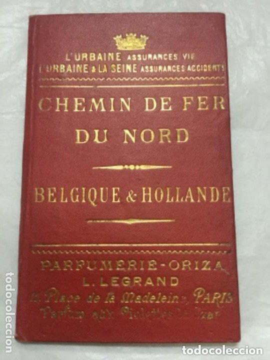 GUIA DE VIAJE -1895 CHEMIN DE FER DU NORD - BELGIQUE & HOLLANDE -BUEN ESTADO - 19P.+ XI (Coleccionismo - Folletos de Turismo)