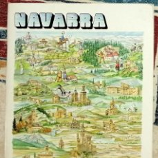 Folhetos de turismo: FOLLETO TURÍSTICO NAVARRA 1986. Lote 226276665