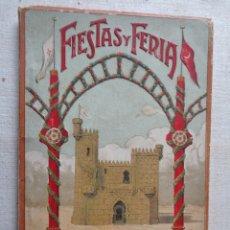 Folletos de turismo: FIESTAS Y FERIA.ALCOY 1924.REFª864. Lote 228352162