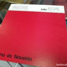 Folletos de turismo: CASINO DE NOVELDA ALICANTE 1974. Lote 229034110