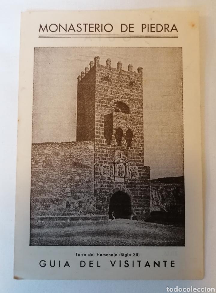 MONASTERIO DE PIEDRA. ZARAGOZA. DIPTICO. GUÍA VISITANTE. AÑOS 40 APROX (Coleccionismo - Folletos de Turismo)