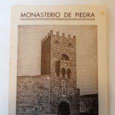 Folletos de turismo: MONASTERIO DE PIEDRA. ZARAGOZA. DIPTICO. GUÍA VISITANTE. AÑOS 40 APROX. Lote 230648430