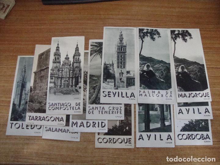 LOTE DE 13 TRIPTICOS TURISMO AÑOS 50 DIFERENTES CIUDADES ESPAÑA E IDIOMAS (Coleccionismo - Folletos de Turismo)