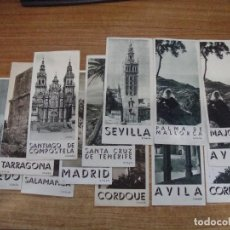 Folletos de turismo: LOTE DE 13 TRIPTICOS TURISMO AÑOS 50 DIFERENTES CIUDADES ESPAÑA E IDIOMAS. Lote 231802315