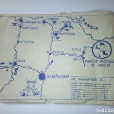 Folletos de turismo: SOBRE RECUERDO DEL ESTANCO DE PANTICOSA (HUESCA). Lote 231900380