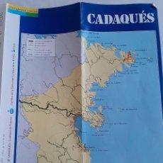 Folletos de turismo: PLANO PUERTO CADAQUÉS GIRONA - 1988. Lote 232894070