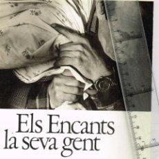 Folletos de turismo: 1982 ELS ENCANTS LA SEVA GENT DANIEL GIRALT-MIRACLE, JAUME SOBREQUÉS CALLICÓ DTOR. INSTITUT HISTORIA. Lote 233169460
