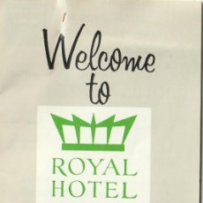 Folletos de turismo: LIBRILLO BIENVENIDA CON HABITACION ANTIGUO ROYAL HOTEL COPENHAGEN. Lote 233433445