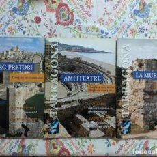Folletos de turismo: TARRAGONA - LOTE ARQUEOLOGIA - ENTRADA - 3 FOLLETOS - 2 MAPAS - 1998. Lote 233935245