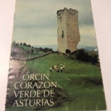 Folletos de turismo: MORCIN, CORAZON VERDE DE ASTURIAS, FOLLETO TURISTICO DESPLEGABLE. Lote 235598180