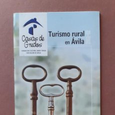 Folletos de turismo: FOLLETO CASAS DE GREDOS. TURISMO RURAL EN ÁVILA. CON TARIFAS. 2001-02.. Lote 235788790
