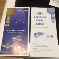 Folletos de turismo: TRÍPTICOS - FOLLETOS DEL MUSEO DEL AIRE DE CUATRO VIENTOS EN MADRID. Lote 236219880