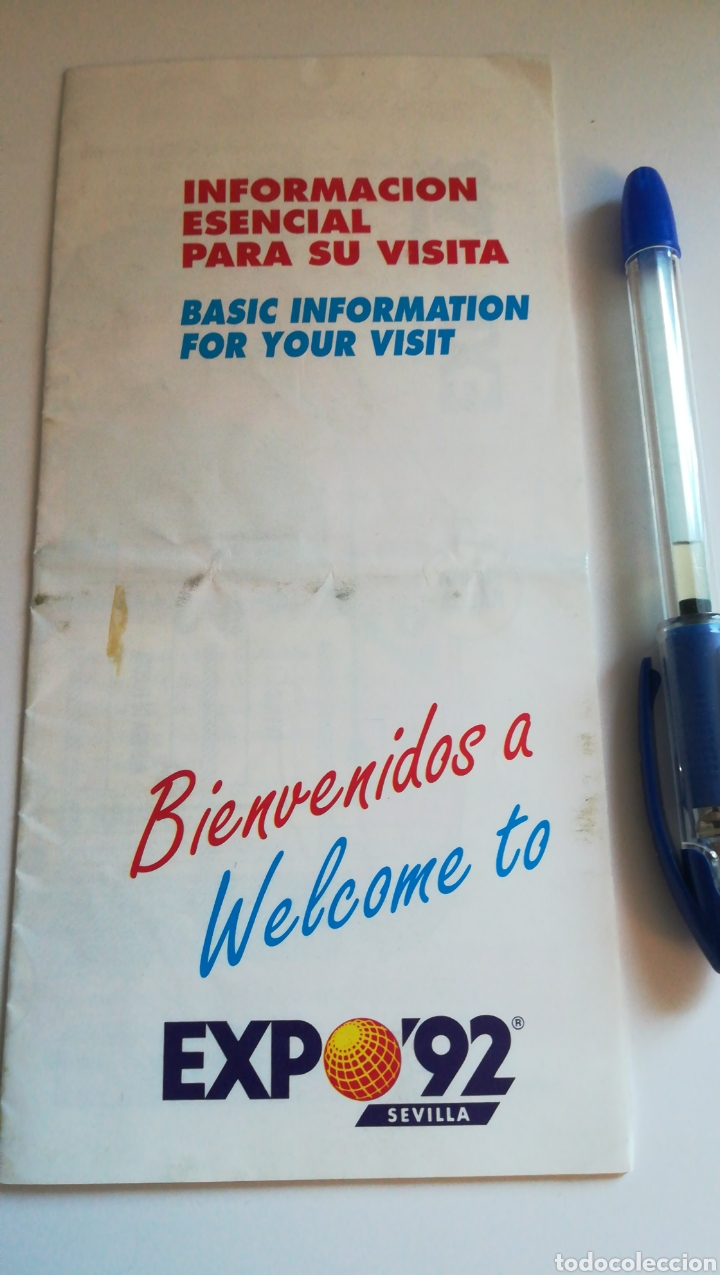 PANFLETO INFORMACIÓN EXPO 92 SEVILLA PLANO GUÍA EXPOSICIÓN SEVILLA 1992 (Coleccionismo - Folletos de Turismo)