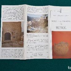 Folletos de turismo: MUSEO ARQUEOLOGICO DE BUÑOL (1981) VALENCIA. Lote 237168175