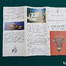 Folletos de turismo: MUSEO ARQUEOLOGICO DE CAUDETE DE LAS FUENTES (1980) VALENCIA. Lote 237168610