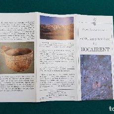 Folletos de turismo: MUSEO ARQUEOLOGICO DE BOCAIRENT (1981) VALENCIA. Lote 237170275