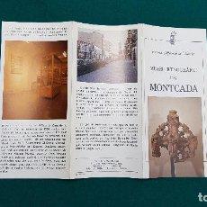 Folletos de turismo: MUSEO ETNOGRAFICO DE MONCADA (1981) VALENCIA. Lote 237170590