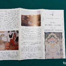 Folletos de turismo: MUSEO HISTORICO ARTISTICO DE LLOSA DE RANES (1981) VALENCIA. Lote 237170770