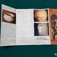Folletos de turismo: MUSEO DEL SERVICIO DE INVESTIGACION PREHISTORICA (1977) VALENCIA. Lote 237171135
