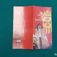 Folletos de turismo: REAL MONASTERIO DEL PUIG DE SANTA MARIA - VALENCIA. Lote 237175500
