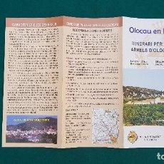 Folletos de turismo: FOLLETO OLOCAU EN BICI - ITINERARIOS. Lote 237194755