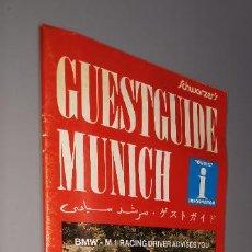 Folletos de turismo: GUESTGUIDE MUNICH JANUARY/FEBRUARY 1986 FOLLETO TURISTICO DESPLEGABLE CON MUCHA PUBLICIDAD. Lote 237466495