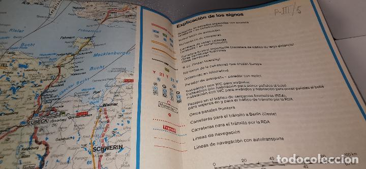 Folletos de turismo: FOLLETO 1987 DESPLEGABLE - BIENVENIDO A ALEMANIA - MAPA -1986 - Foto 4 - 237467820