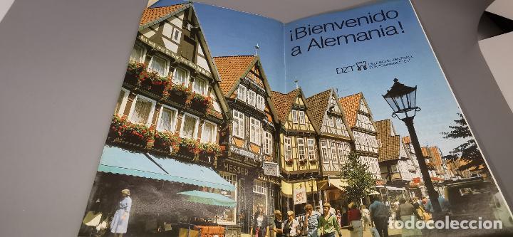 FOLLETO 1987 DESPLEGABLE - BIENVENIDO A ALEMANIA - MAPA -1986 (Coleccionismo - Folletos de Turismo)