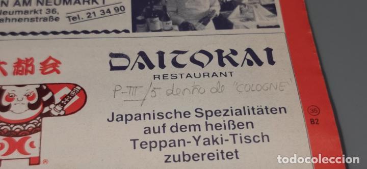 Folletos de turismo: kolner gastefuhrer (colonia-alemania) folleto desplegable con mucha publicidad Junio 1986 - Foto 3 - 237477025