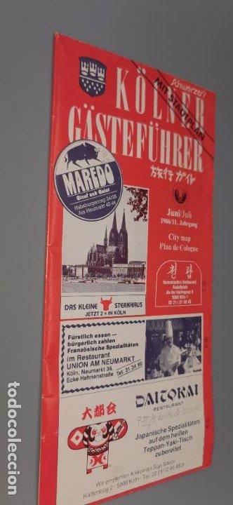KOLNER GASTEFUHRER (COLONIA-ALEMANIA) FOLLETO DESPLEGABLE CON MUCHA PUBLICIDAD JUNIO 1986 (Coleccionismo - Folletos de Turismo)