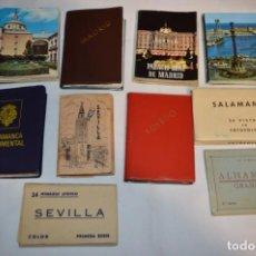 Folletos de turismo: 10 LIBRITOS / ESTUCHES SOUVENIR VARIADOS - CON FOTOGRAFÍAS/MONUMENTOS PROVINCIAS ESPAÑOLAS ¡MIRA!. Lote 238488515