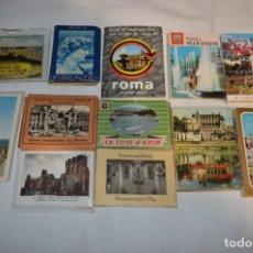 Folletos de turismo: 12 LIBRITOS / ESTUCHES SOUVENIR VARIADOS - CON FOTOGRAFÍAS/MONUMENTOS PAISES EXTRANJEROS ¡MIRA!. Lote 238490265
