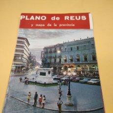 Folletos de turismo: ANTIGUO PLANO DE REUS AÑOS 60-70. Lote 238645335