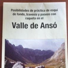 Folletos de turismo: VALLE ANSÓ.. Lote 239493495