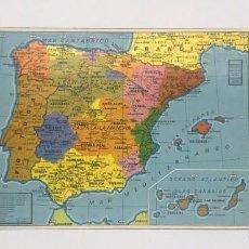 Folletos de turismo: MAPA DE ESPAÑA CON PREFIJOS DE LA RED TELEFONICA Y CODIGOS POSTALES. Lote 241312005