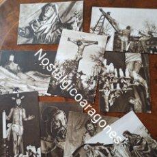 Brochures de tourisme: SEMANA SANTA VALLADOLID 1953 ACTOS PROGRAMADOS LOTE 9 POSTALES. Lote 241929195