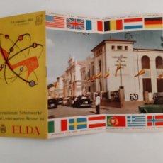Brochures de tourisme: FERIA DEL CALZADO ELDA ALICANTE 1962 ANTIGUO CATALOGO PULICIDAD TEXTO ALEMAN TURISMO RV. Lote 242471735