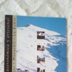 Brochures de tourisme: MANCOMUNIDAD DE MUNICIPIOS DEL RIO MONACHIL. SIERRA NEVADA. CERVEZAS ALHAMBRA. Lote 243214625