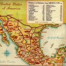 Folletos de turismo: ACAPULCO - MÉXICO - PRECIOSO FOLLETO DE TURISMO - AÑOS 50? - ED. ALDUCIN 228X171. Lote 243406065