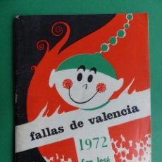 Folletos de turismo: PROGRAMA LLIBRET VALENCIA FALLAS - ERNESTO FERRER - AÑO 1972. Lote 243872230