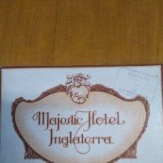 Folletos de turismo: MAJESTIC HOTEL INGLATERRA AÑOS 30. Lote 243914710