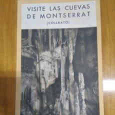 Folletos de turismo: CUEVAS DE MONTSERRAT. Lote 243915150
