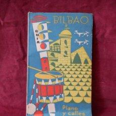 Folletos de turismo: BILBAO GUIA PLANO Y CALLES 1962. Lote 243990770