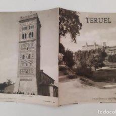 Folletos de turismo: ANTIGUO FOLLETO TURISMO TERUEL CON PLANO DE LA CIUDAD RV. Lote 244695910