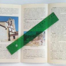 Folletos de turismo: BUENAFUENTE DEL SILTAL. LUGAR CLERICAL Y DE ORACIÓN. TRÍPTICO. Lote 244718605